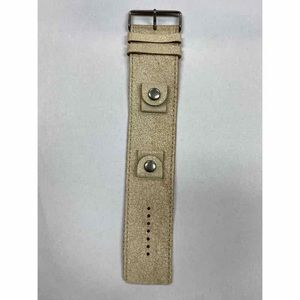 Fossils Cream Wide Leather Watch Band